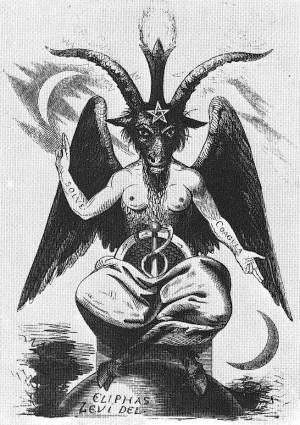 De oorsprong van het aanbidden en channelen van Baphomet